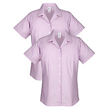 Buy School Girls' Junior/Senior General and Summer Short Sleeve Blouse, Pack of 2, Purple Online at johnlewis.com