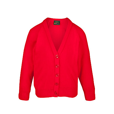 St George's School, Hanover Square Girls' Cardigan, Lollipop Red