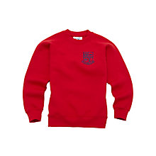Buy St Mary's RC Primary School Clapham Unisex Nursery Sweatshirt, Red Online at johnlewis.com