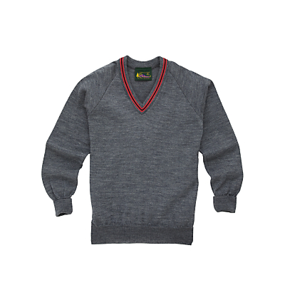 Product photo of Lochinver house school boys wool mix jumper grey pink