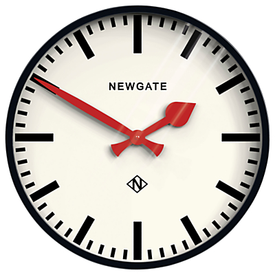 Newgate Putney Wall Clock, Dia.45cm, Black