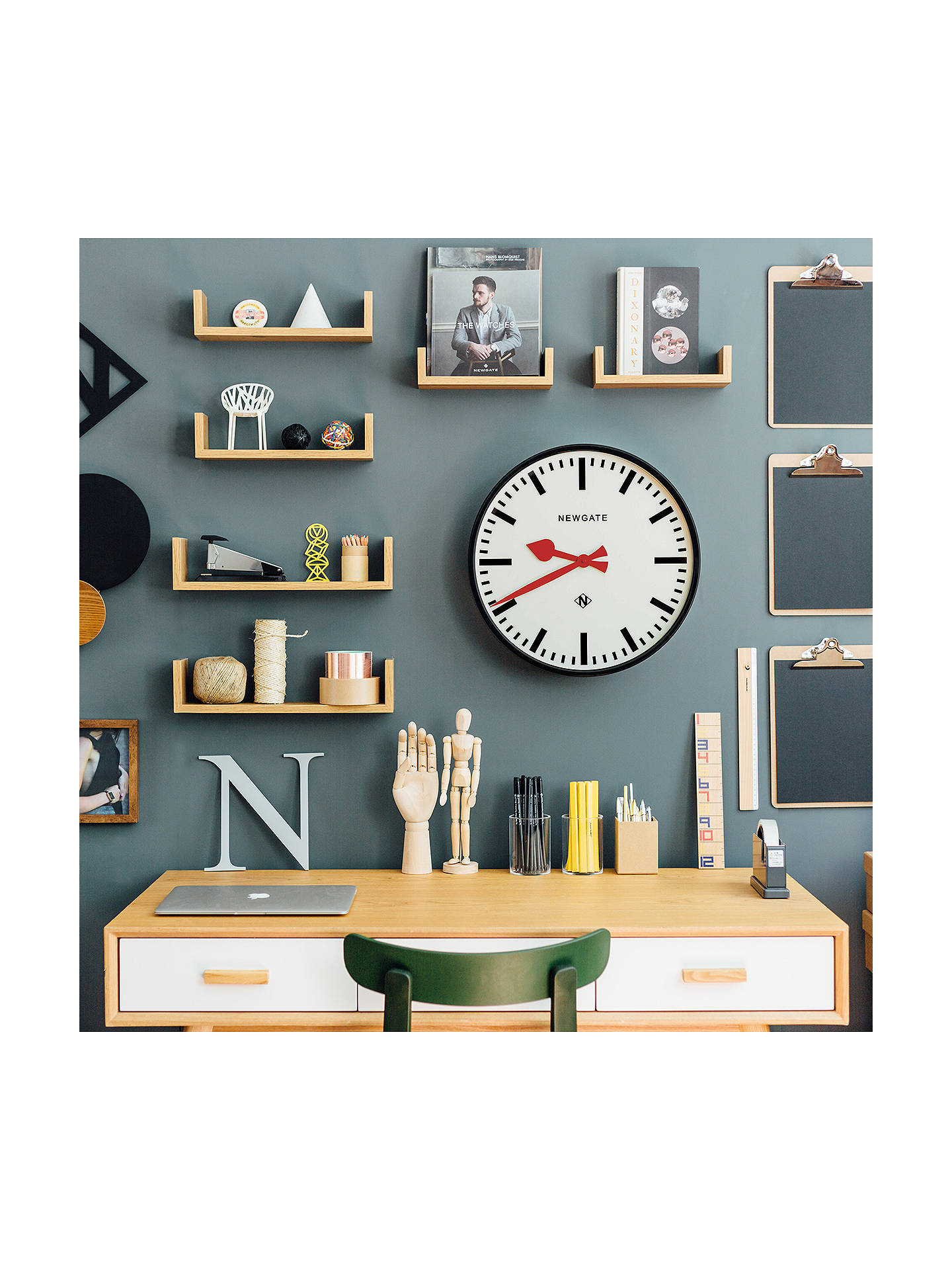 BuyNewgate Putney Wall Clock, Dia.45cm, Black Online at johnlewis.com