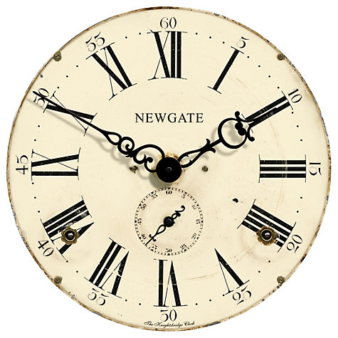 Buy Newgate Knightsbridge Wall Clock, Dia.50cm, Cream Online at johnlewis.com