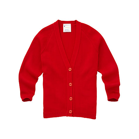 Buy Girls' School Cardigan, Red Online at johnlewis.com