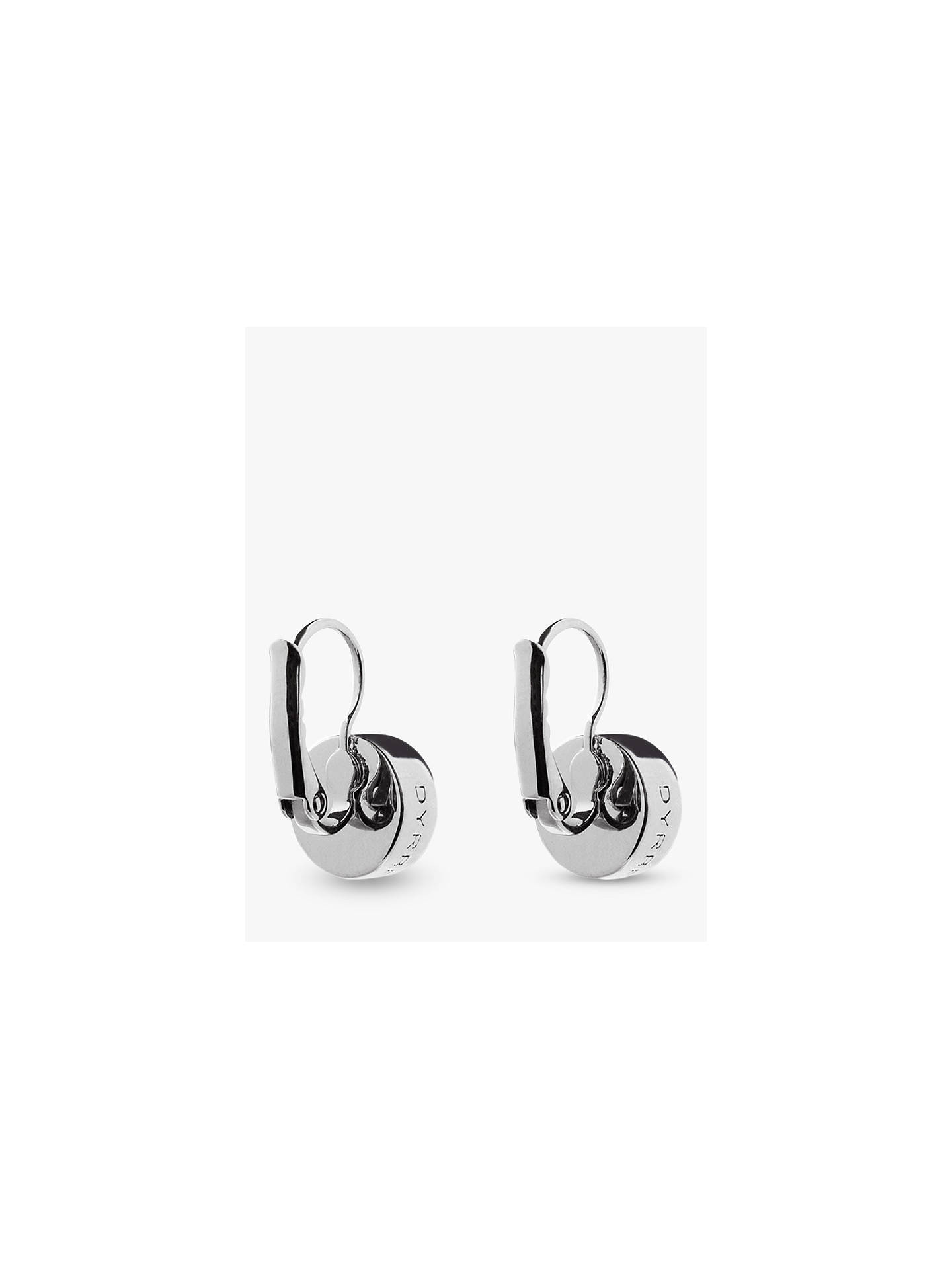 Dyrberg Kern Louise Crystal French Hook Drop Earrings Silver Online At Johnlewis