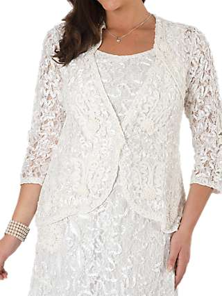 Chesca Lace Cornelli Embroidered Trim Jacket