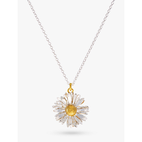 Buy Alex Monroe for John Lewis Daisy Pendant Necklace, Silver/Gold Online at johnlewis.com