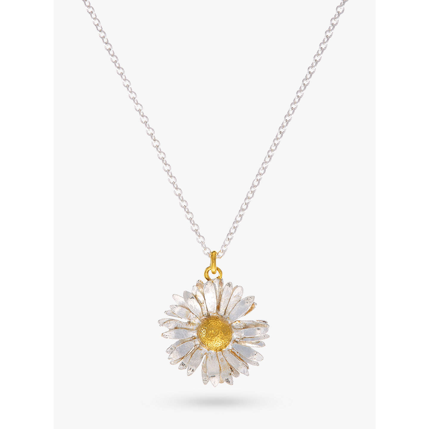 diamond necklace yellow pendant jewelry sapphire and coin roberto product daisy gallery null lyst