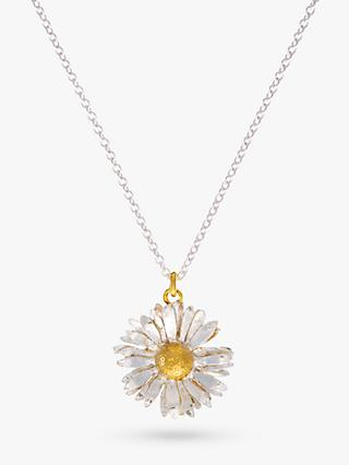 Alex Monroe for John Lewis Daisy Pendant Necklace, Silver/Gold