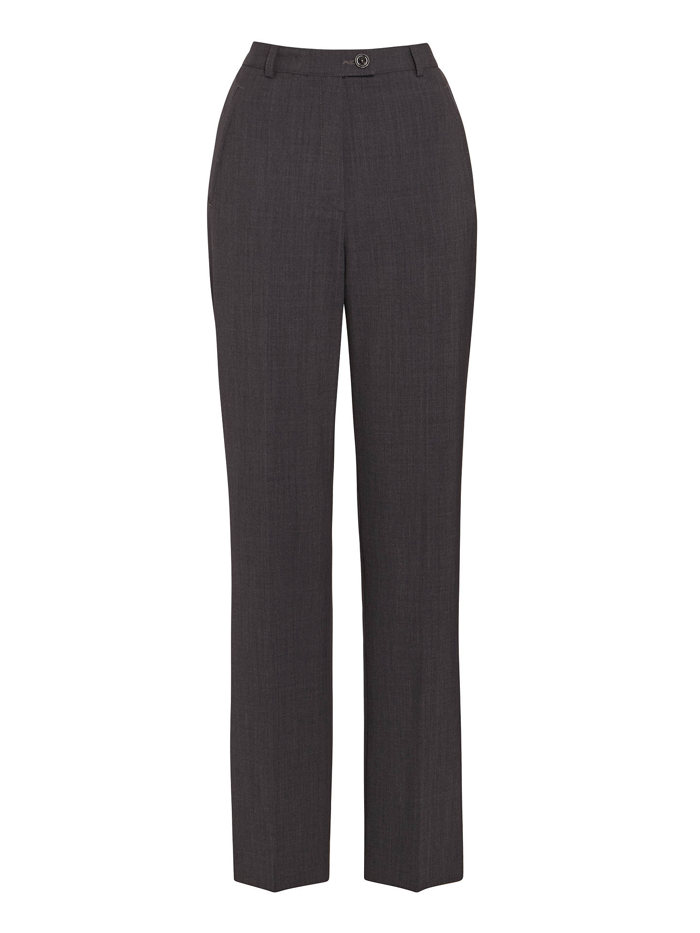BuyGardeur City Straight Leg High Rise Trousers, Grey, 10R Online at johnlewis.com