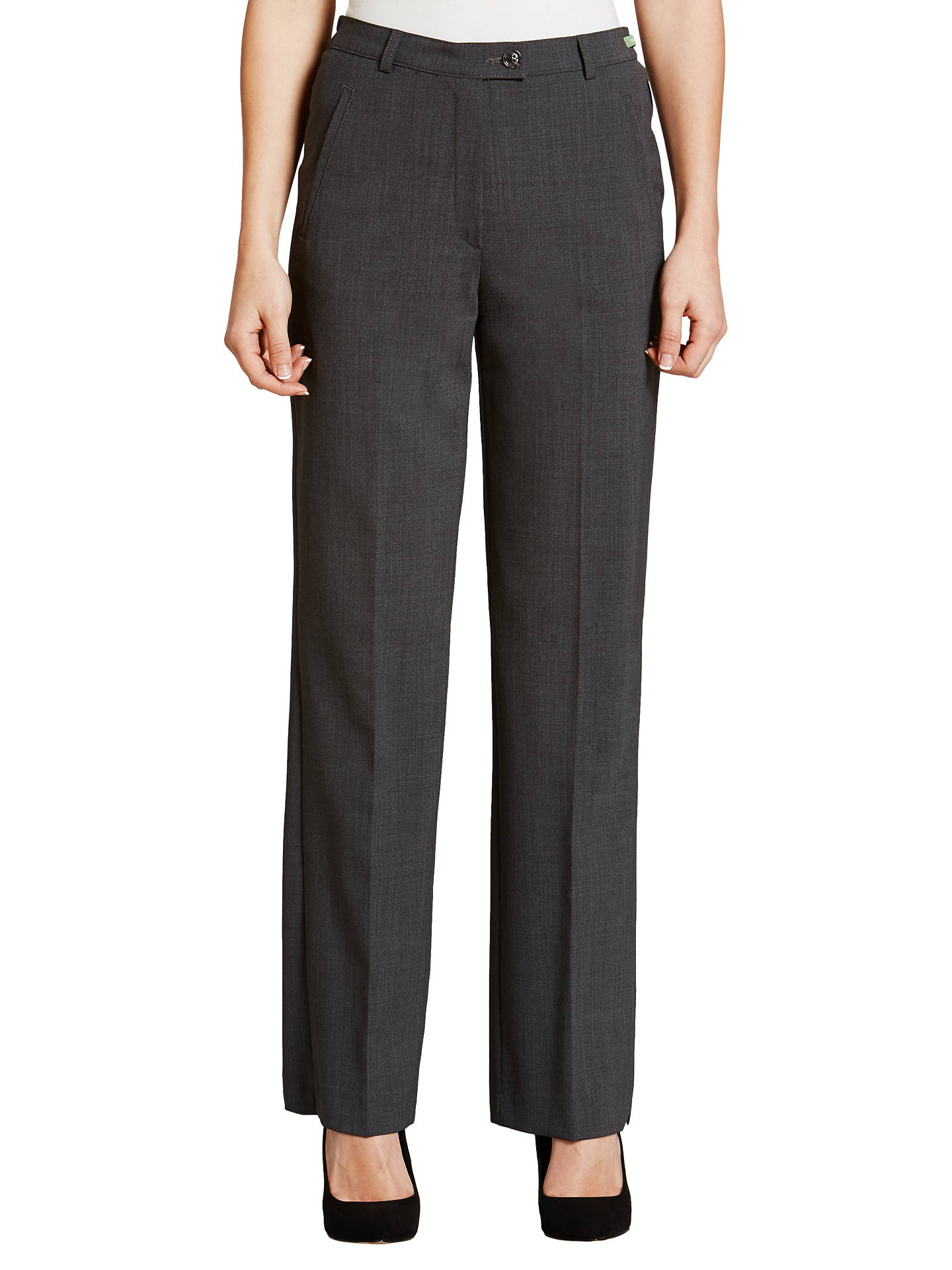 Gardeur city straight leg high rise trousers grey at john lewis buygardeur city straight leg high rise trousers grey 10r online at johnlewis reheart Images