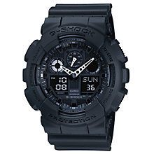 Buy Casio GA-100-1A1ER Men's G-Shock Digital Black Rubber Strap Watch Online at johnlewis.com