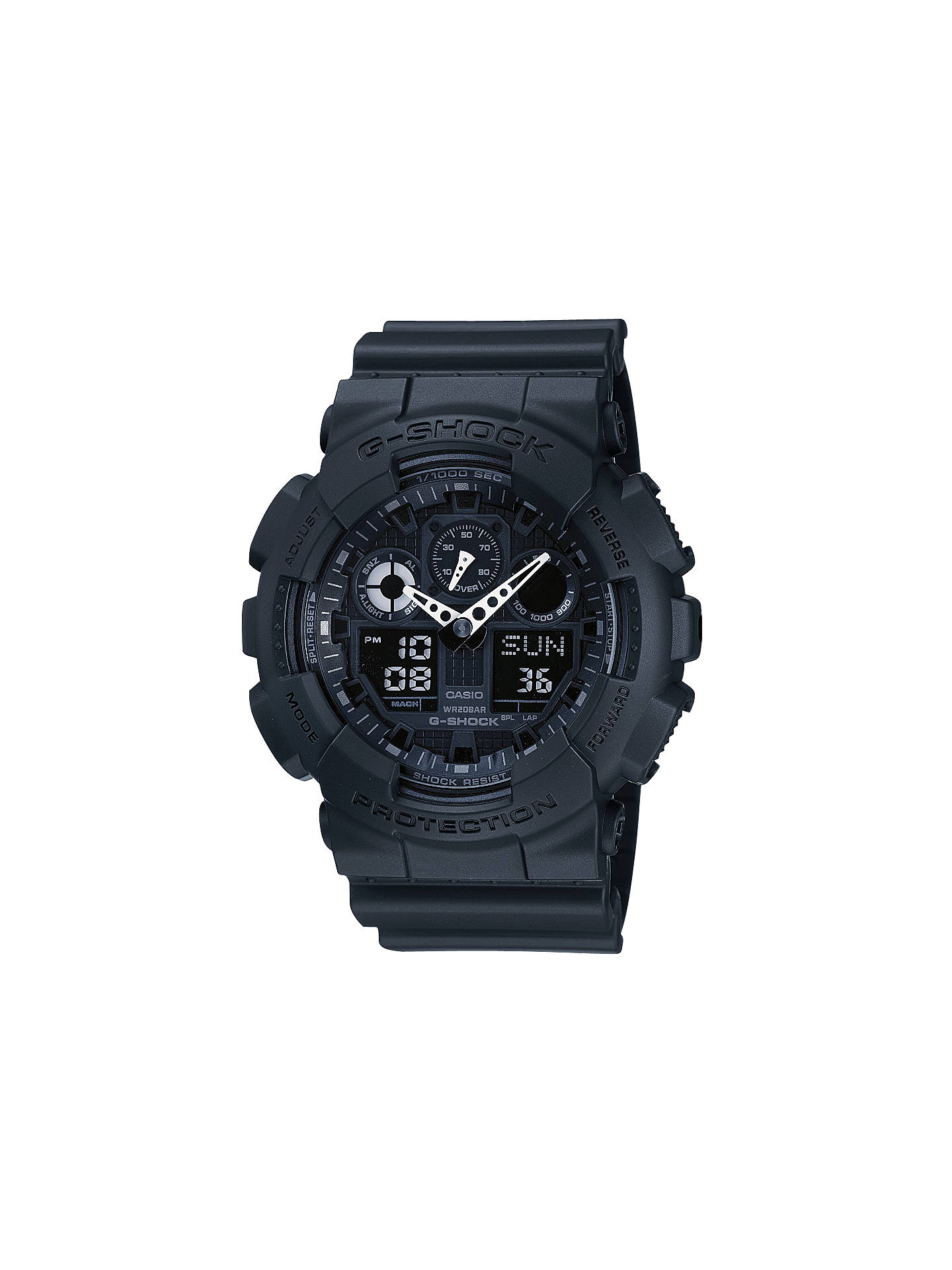 Casio Ga 100 1a1er Men S G Shock Digital Black Rubber Strap