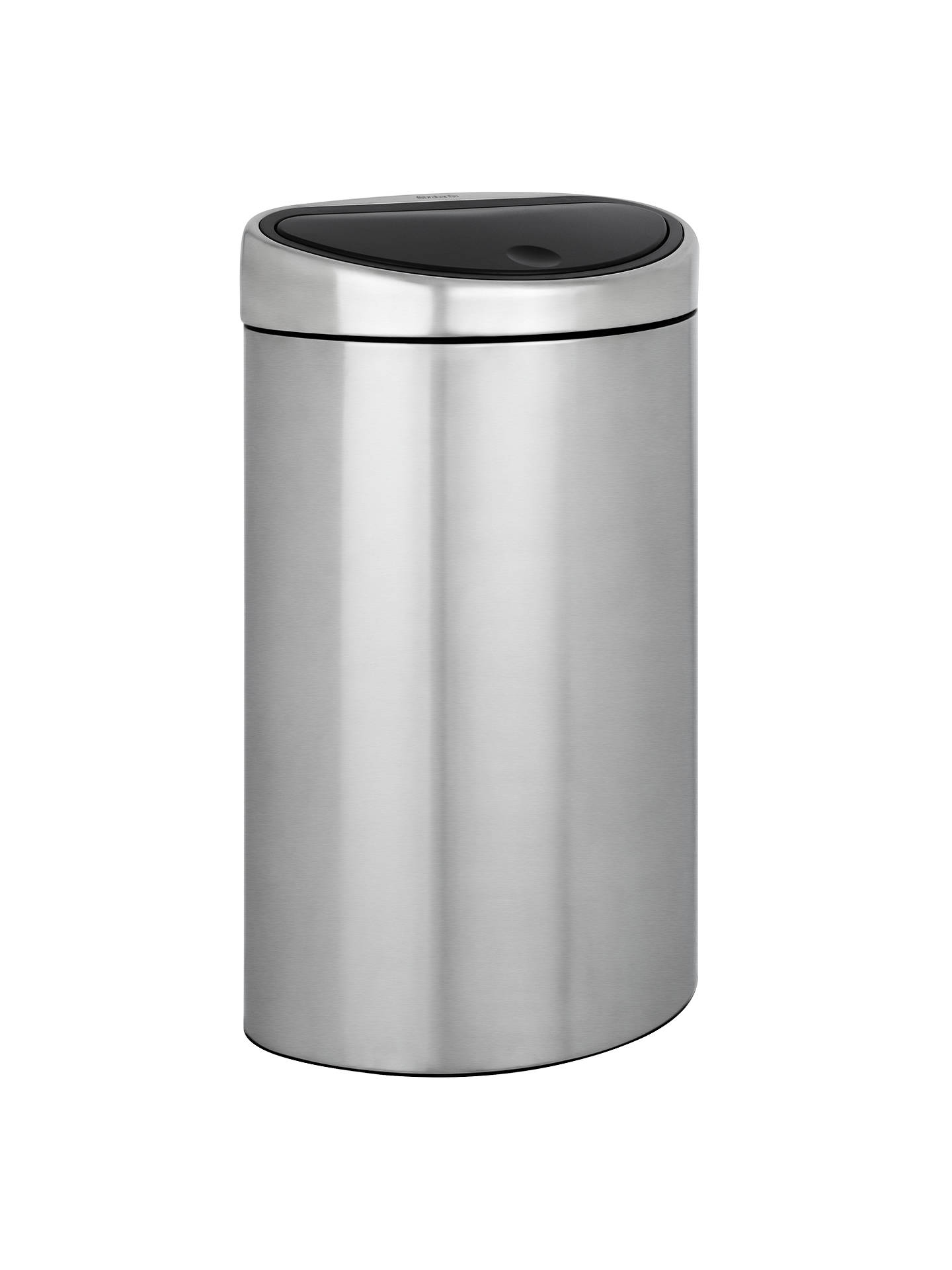brabantia touch bin matt steel 40l at john lewis partners. Black Bedroom Furniture Sets. Home Design Ideas