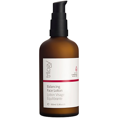 Buy Trilogy Balancing Face Lotion, 100ml Online at johnlewis.com