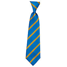 Buy St Mary's Bryanston Square C of E Primary School Elastic Tie, Blue/Gold Online at johnlewis.com