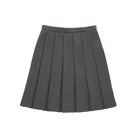 Buy Girls' School Box Pleat Skirt, Grey | John Lewis
