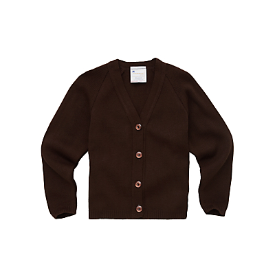 Product photo of Girls school cardigan brown