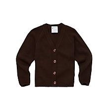 Buy Girls' School Cardigan, Brown Online at johnlewis.com