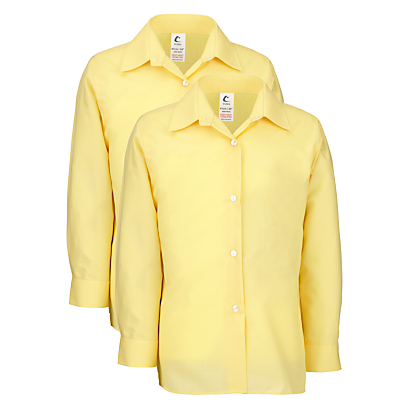 Image of Girls' School Long Sleeve Blouse, Pack of 2, Gold