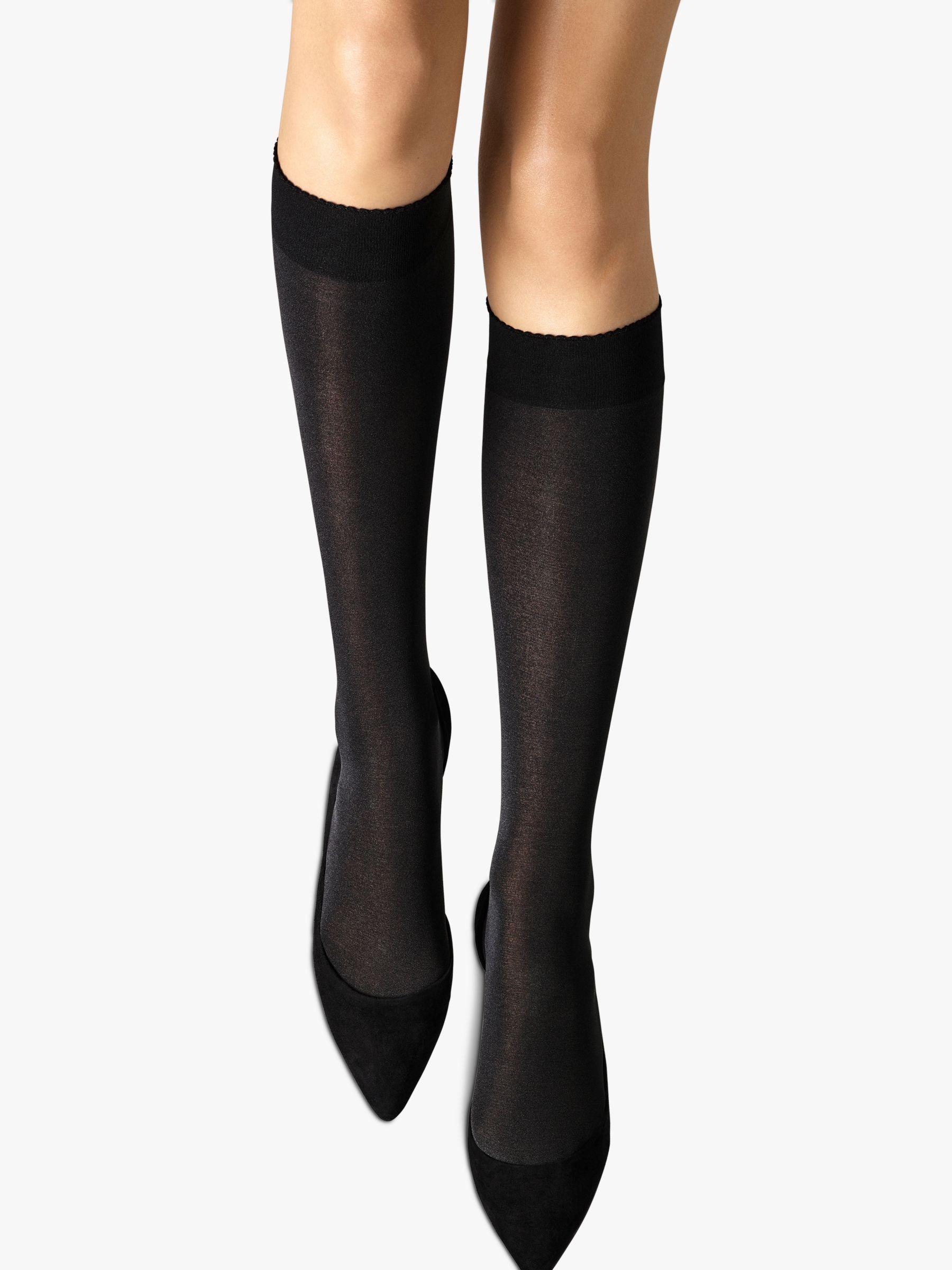 Wolford Wolford Velvet de Luxe 50 Knee Highs, Black