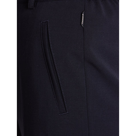 Buy Gardeur City Straight Leg High Rise Trousers, Navy Online at johnlewis.com