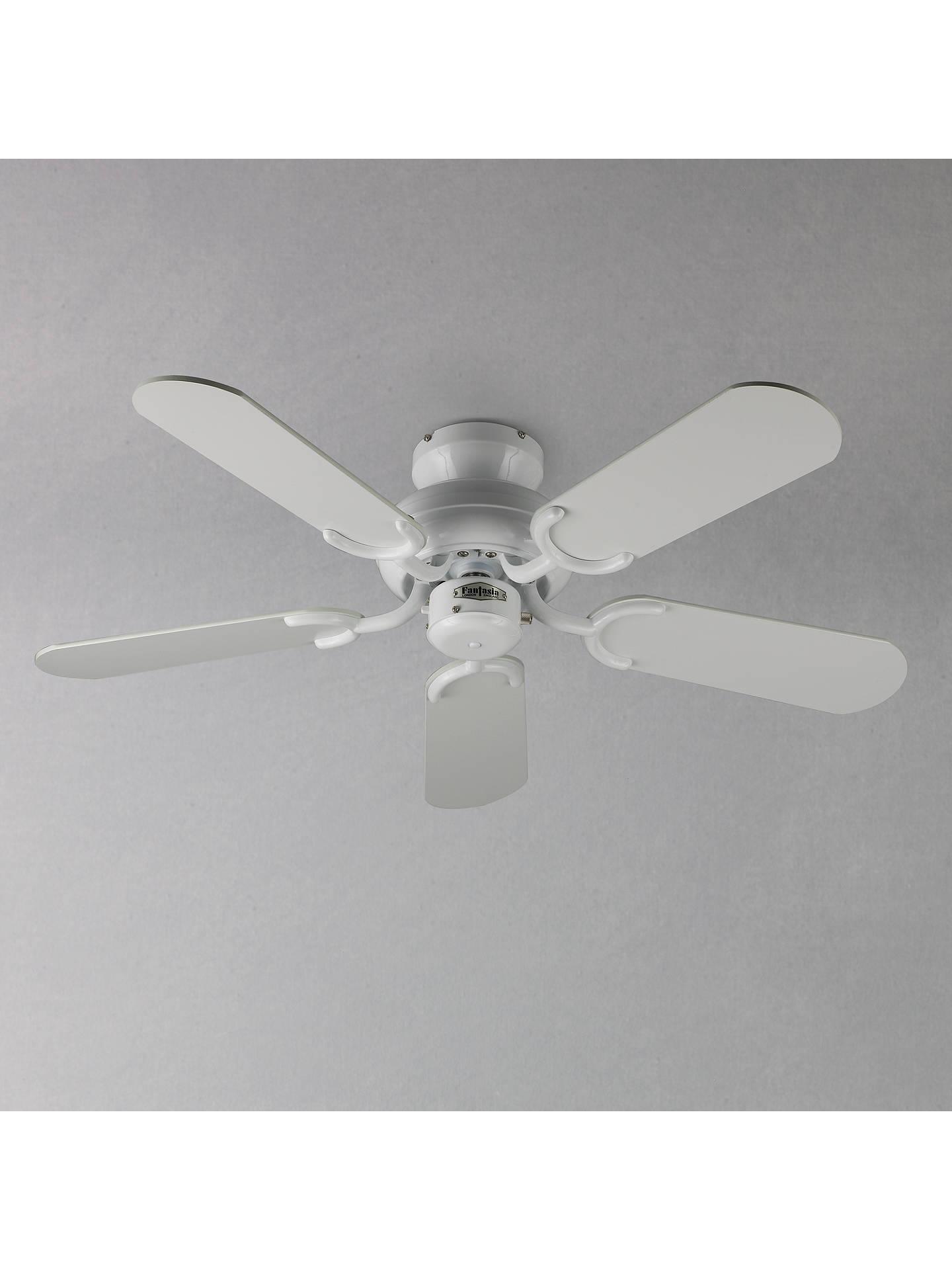 fantasia capri ceiling fan white at john lewis partners. Black Bedroom Furniture Sets. Home Design Ideas