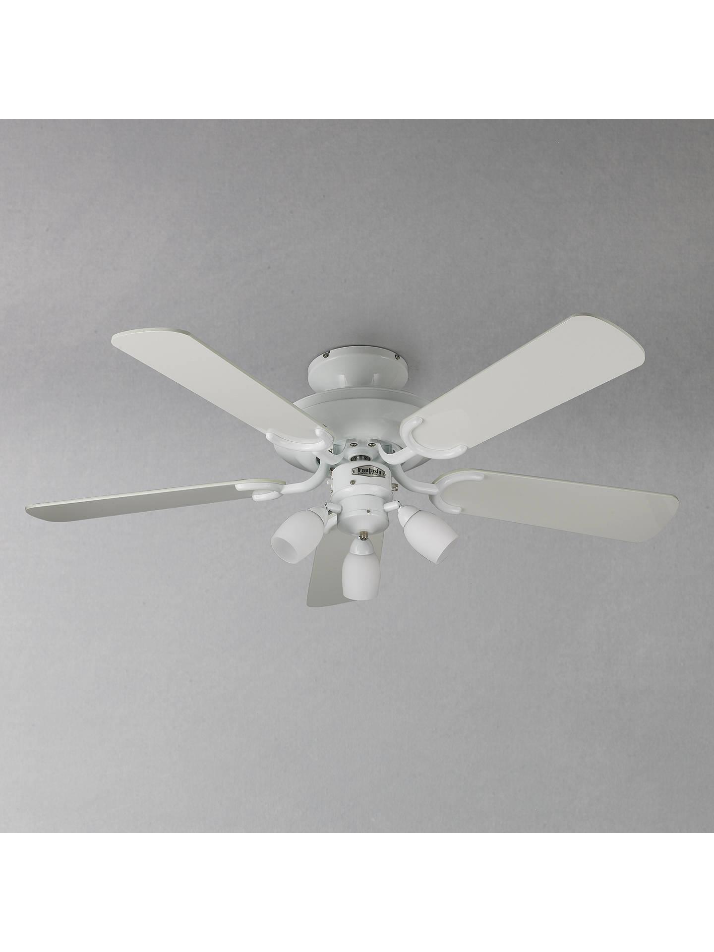 fantasia mayfair ceiling fan and light white at john. Black Bedroom Furniture Sets. Home Design Ideas