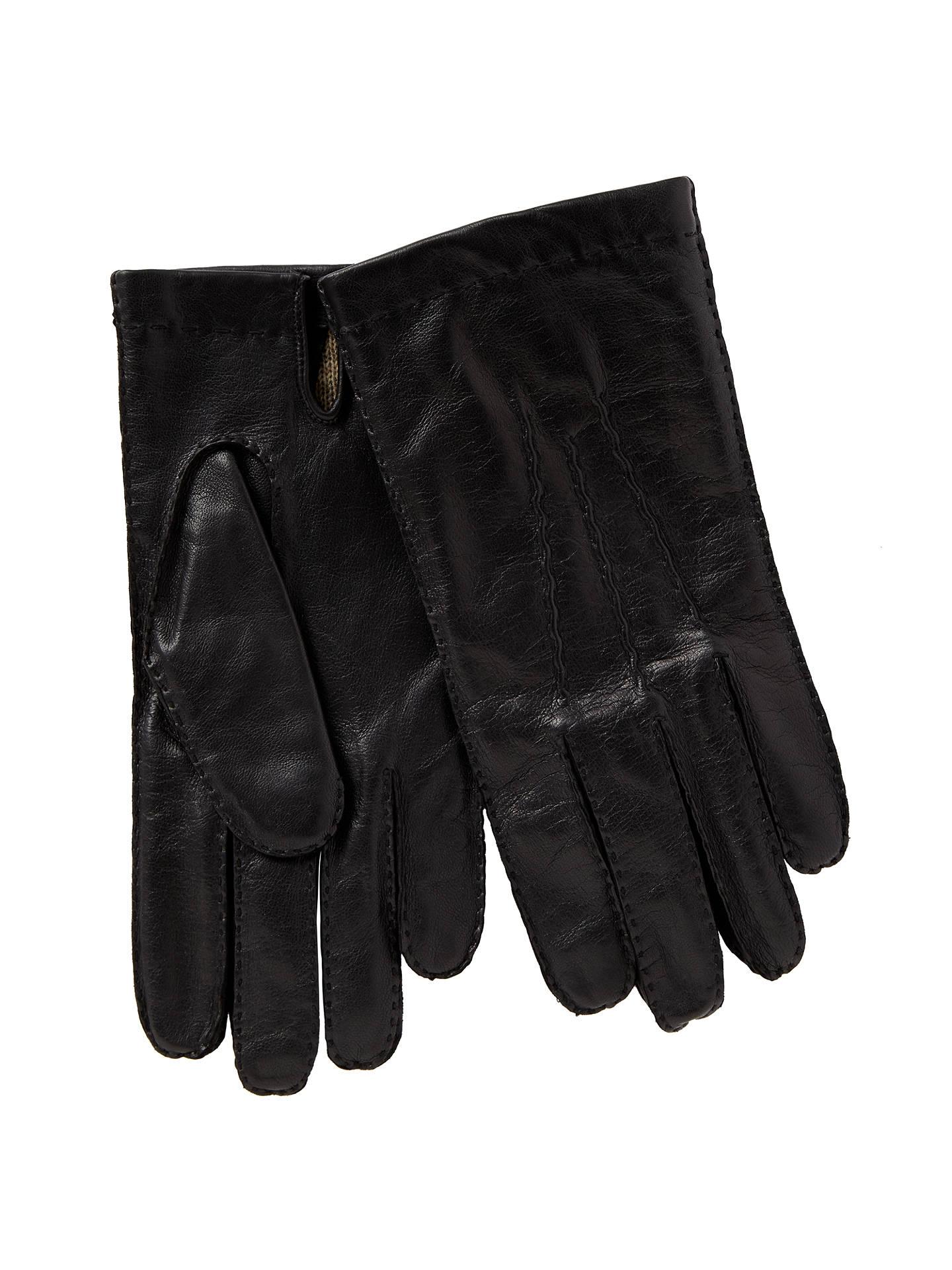 6d1bbf37072c4 Buy John Lewis Wool Lined Handsewn Leather Gloves, Black, S Online at  johnlewis.