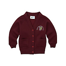 Buy George Fentham Endowed School Girls' Cardigan, Maroon Online at johnlewis.com