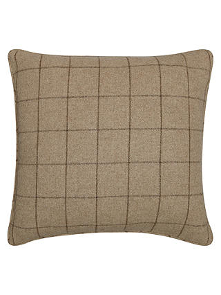 Buy Moon Flannel Check Cushion, Beige Online at johnlewis.com