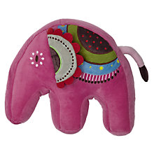 Buy little home at John Lewis Abbey Elephant Plush Shaped Cushion Online at johnlewis.com