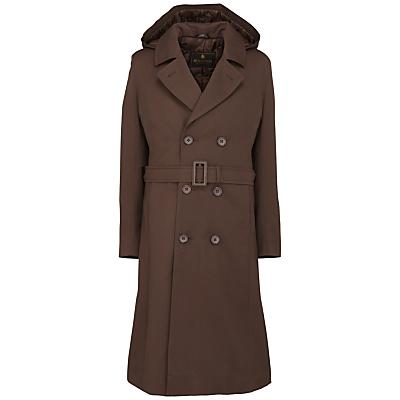 Product photo of School girls raincoat brown