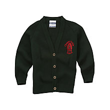 Buy Chapel Fields Junior School Girls' Cardigan, Bottle Green Online at johnlewis.com