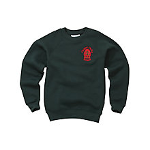 Buy Chapel Fields Junior School Unisex Sweatshirt, Bottle Green Online at johnlewis.com