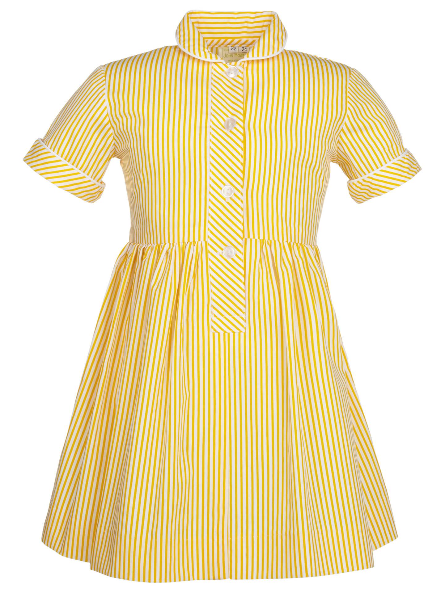 26b0efce82d9f School Girls' Summer Dress, Yellow at John Lewis & Partners