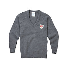 Buy Langley Senior School Unisex Pullover, Grey Online at johnlewis.com