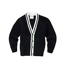 Buy Lenzie Primary School Girls' Cardigan, Navy Online at johnlewis.com