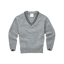 Buy Lenzie Primary School Unisex Pullover, Grey Online at johnlewis.com