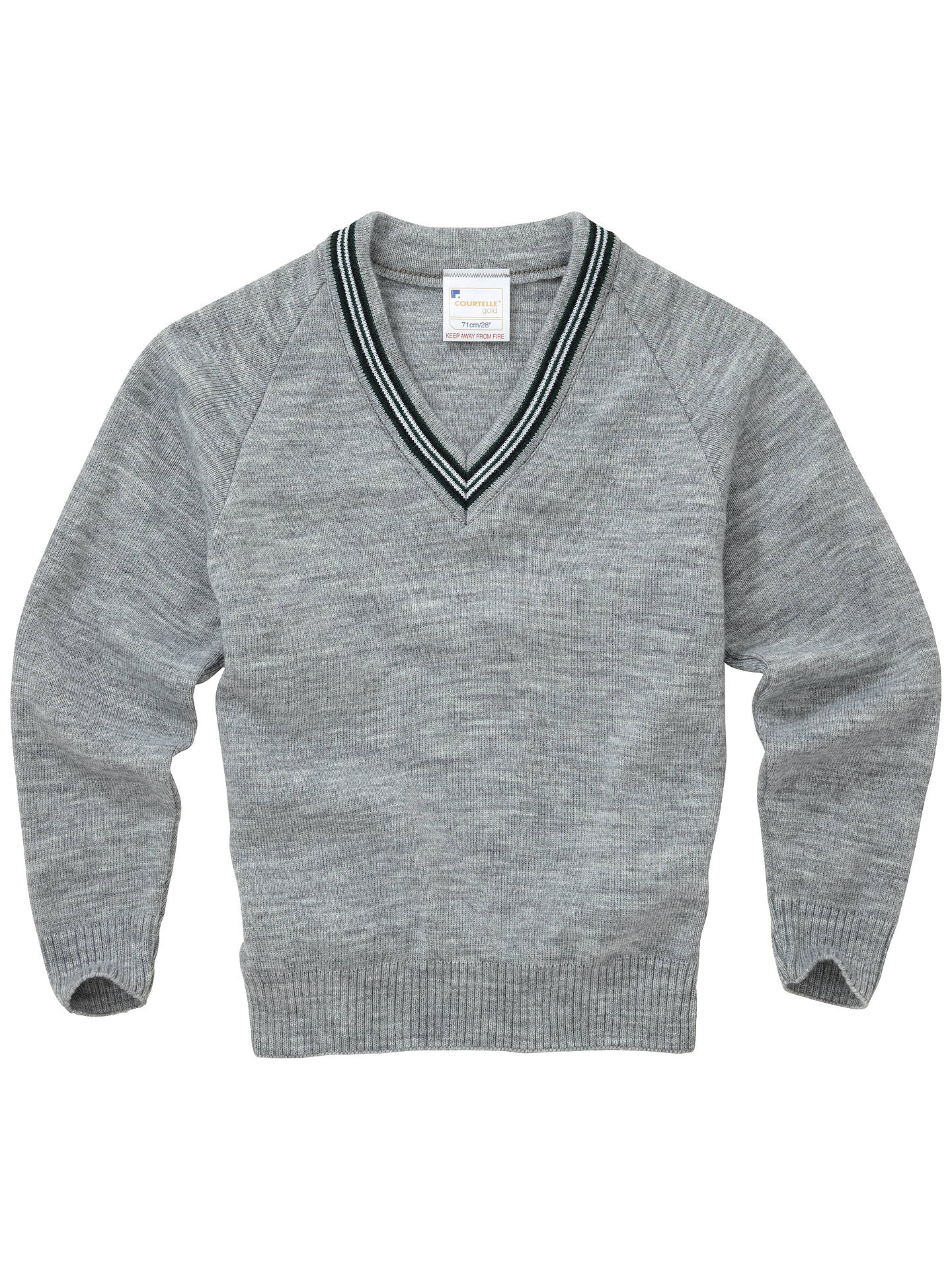 BuyLenzie Primary School Unisex Pullover, Grey, Chest 26 Online at johnlewis.com