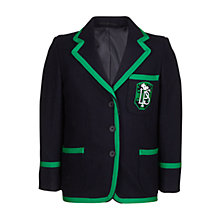 Buy Lenzie Primary School Girls' Blazer, Navy/Green Online at johnlewis.com