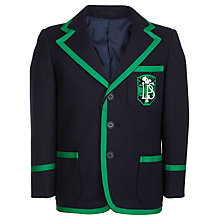 Buy Lenzie Primary School Boys' Blazer, Navy/Green Online at johnlewis.com
