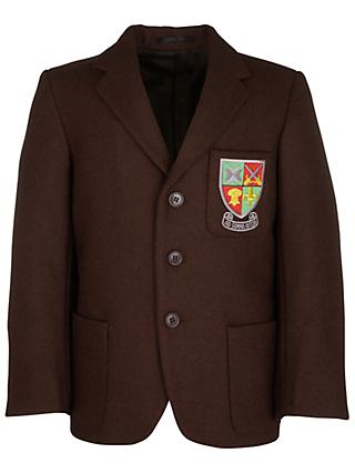 Jordanhill School Boys' Blazer, Brown