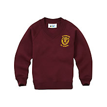 Buy St Edwards RC Primary School Unisex V-Neck Sweatshirt, Maroon Online at johnlewis.com