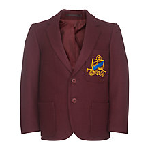 Buy The Swaminarayan School Pre-Prep and Prep Unisex Blazer, Burgundy Online at johnlewis.com