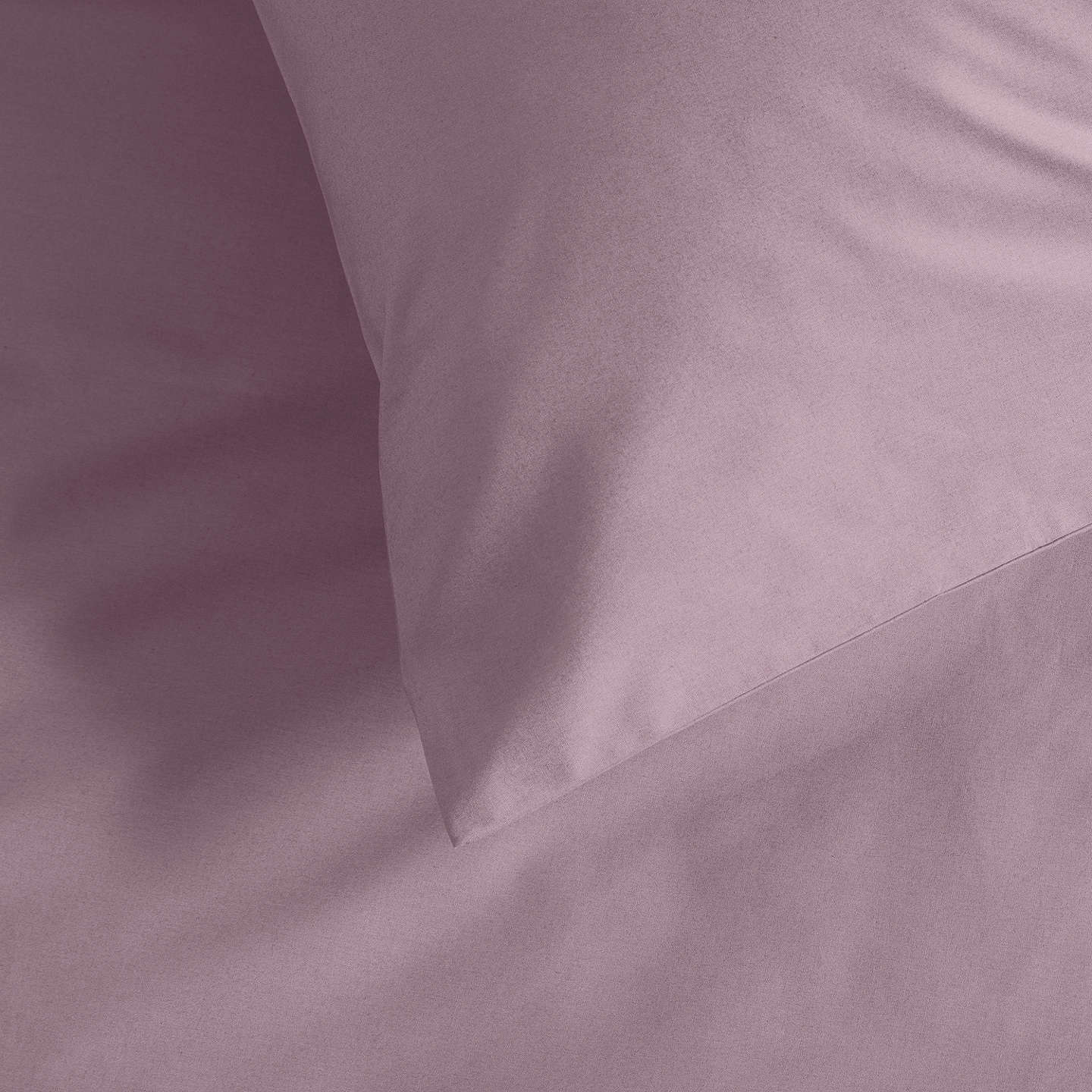 BuyJohn Lewis Perfectly Smooth 200 Thread Count Egyptian Cotton Standard Pillowcase, Amethyst Online at johnlewis.com