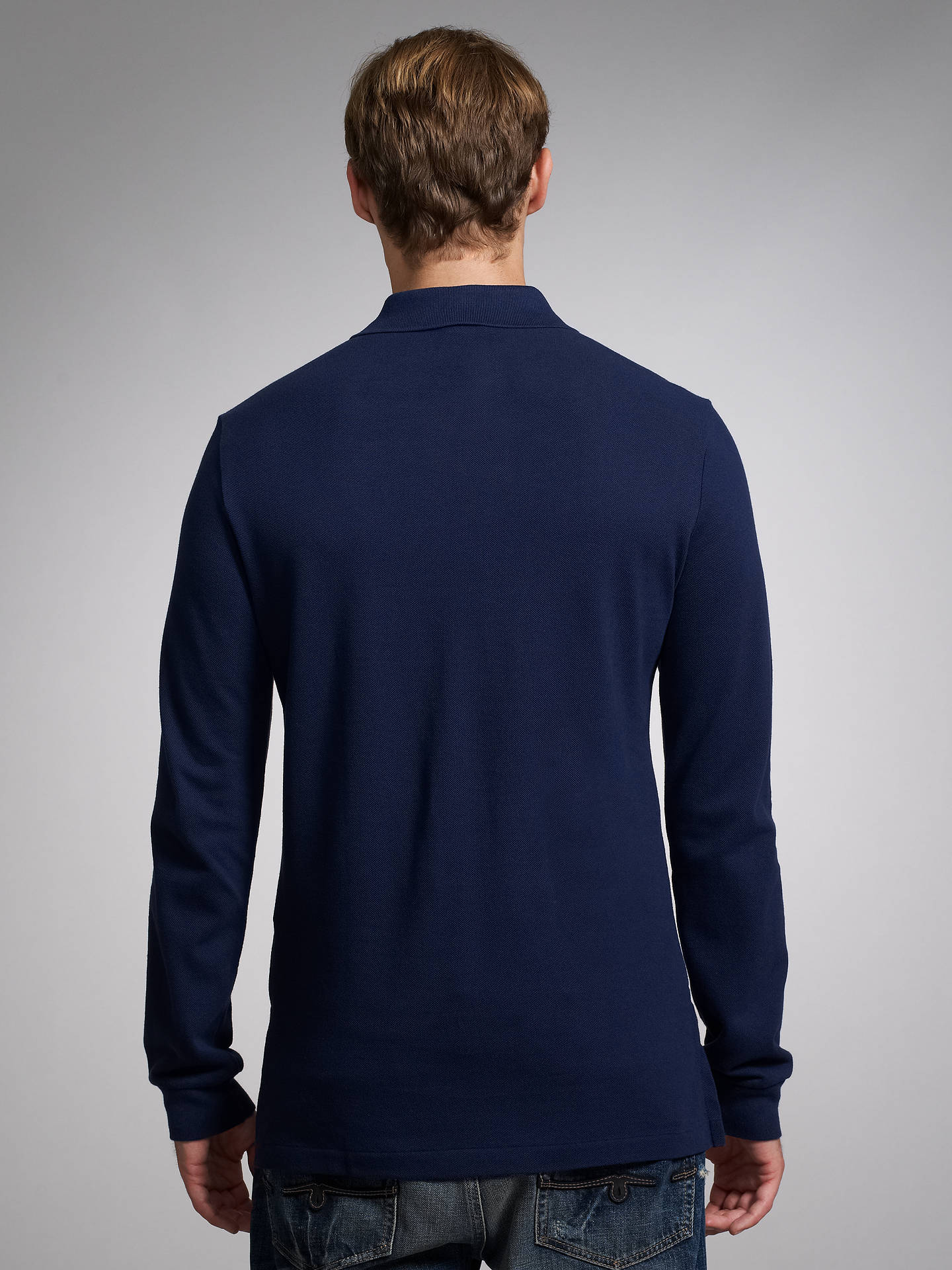Polo Ralph Lauren Custom Fit Long Sleeve Polo Shirt At John Lewis
