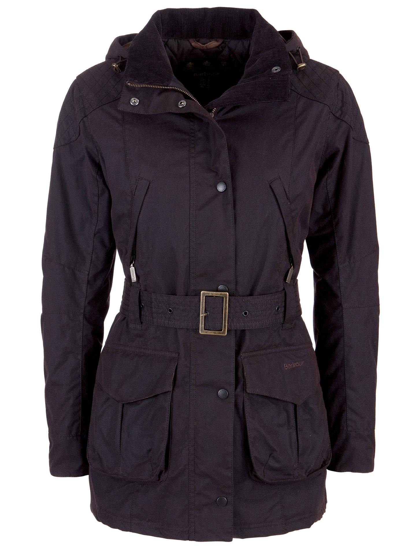 a56000ca40 Buy Barbour International Rebel Waxed Jacket, Rustic, 10 Online at  johnlewis.com ...