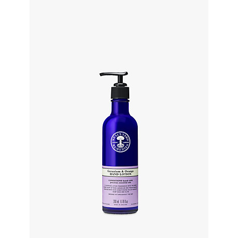 Buy Neal's Yard Remedies Geranium and Orange Hand Lotion, 200ml Online at johnlewis.com