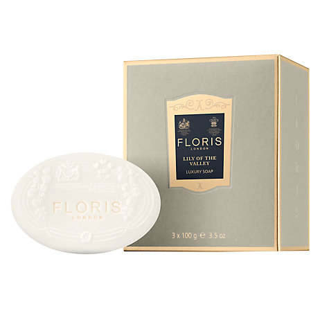 Buy Floris Lily of the Valley Luxury Soap Set, 3 x 100g Online at johnlewis.com